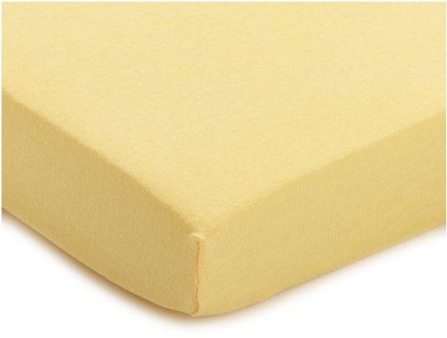 Julius Zöllner 8320113120 - Spannbetttuch Jersery für Kinderbett, Größe: 60 x 120 cm/70 x 140 cm, Farbe: vanille