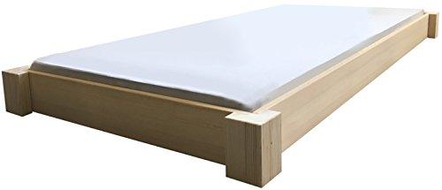Bodentiefes Bett Holz massiv Designbett 90 100 120 140 160 180 200 x 200cm, hergestellt in BRD (120cm x 200cm)