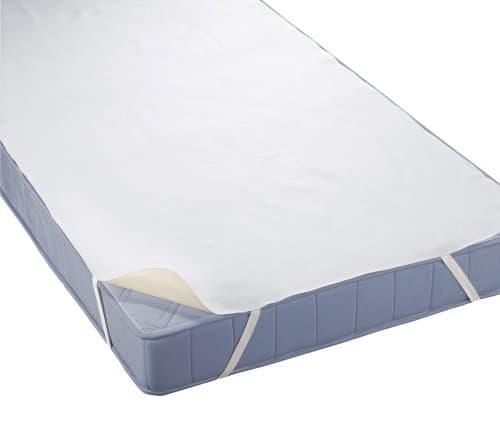 biberna Wasserundurchlässige Molton Matratzenauflage, ca. 70 x 140 cm, weiß