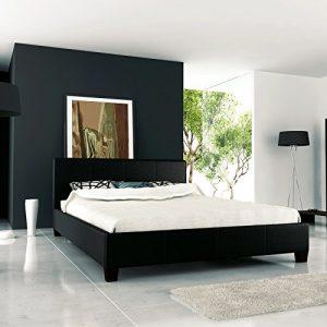 Polsterbett Schwarz 180x200 mit Lattenrost Bett Doppelbett Ehebett