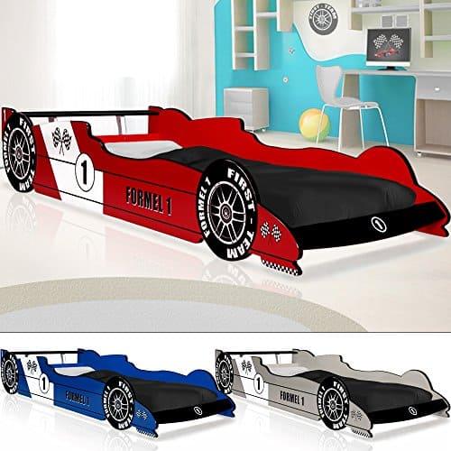 Autobett F1 Formel 1 Kinderbett Bett Schlafzimmer Kindermöbel Rennbett Spielbett Blau